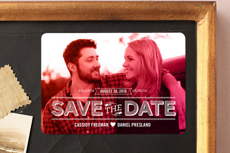 Etched Color Wash Save The Date Magnets