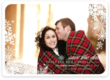 Snowflake Window Save the Date Magnets