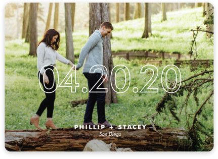 Modern Minimalist Save the Date Magnets
