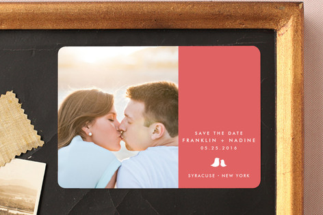 Sweet and Simple Save The Date Magnets