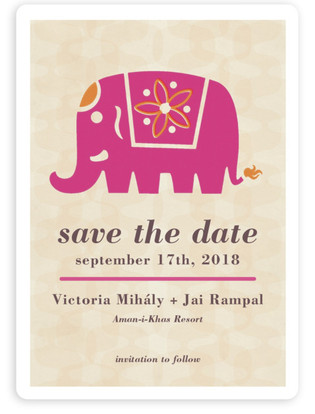 Indian Elephant Save the Date Magnets