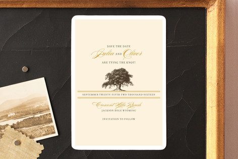 Oak Tree Save The Date Magnets