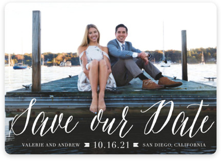 Modern Script Save the Date Magnets