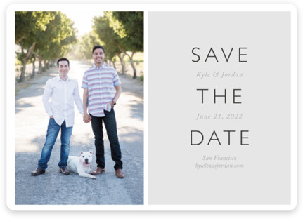 Modern Date Save the Date Magnets