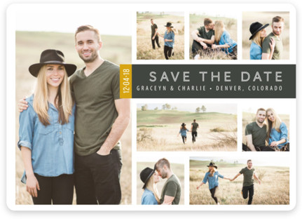 A Collage for Two Save the Date Magnets