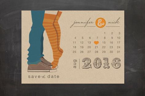 Tiptoe Kiss Save The Date Postcards