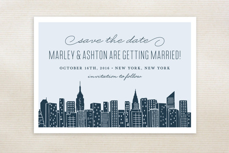 Big City - New York City Save The Date Postcards