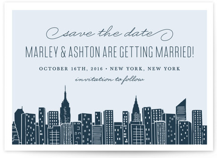 Big City New York Save the Date Postcards