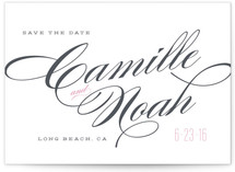 Classique Save the Date Postcards