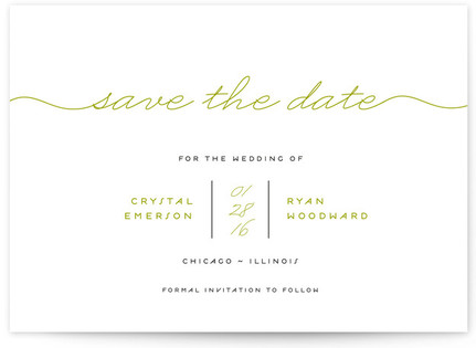 Modern Handwriting Save the Date...