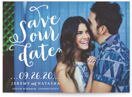 Swirly Save the Date Postcards