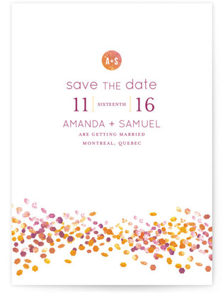 Abstract Autumn Save the Date...