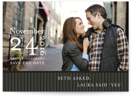 Modern Stripes Save the Date...