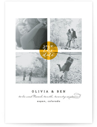 Dot Save the Date Postcards