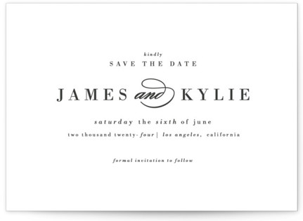 Classically Stated Save the Date Postcards