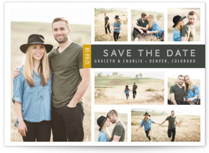 A Collage for Two Save the Date Postcards