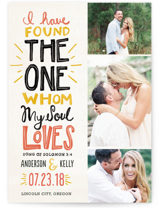 My Soul Loves Save the Date Postcards