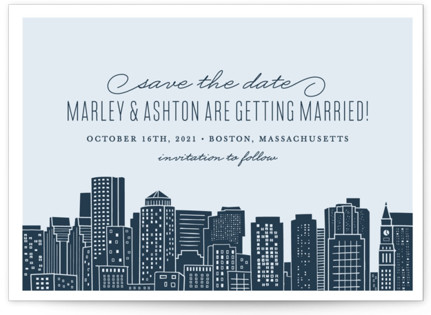 Big City - Boston Save the Date Postcards