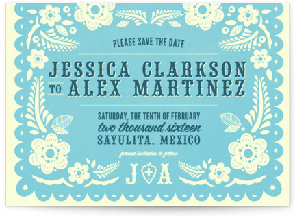 Papel Picado Save the Date Postcards