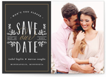 Tiny Initials Save The Date Postcards