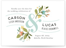 Floral Ampersand Save The Date Cards