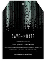 Crystal Curtain Save The Date Cards
