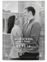 Ornate Monogram Save The Date Cards