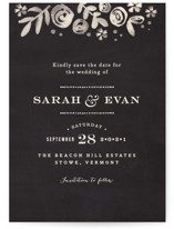 Sun Bleached Florals Save The Date Cards