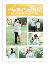 Painted Gallery Save The Date Cards