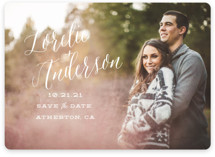Watercolor Heart Save The Date Cards