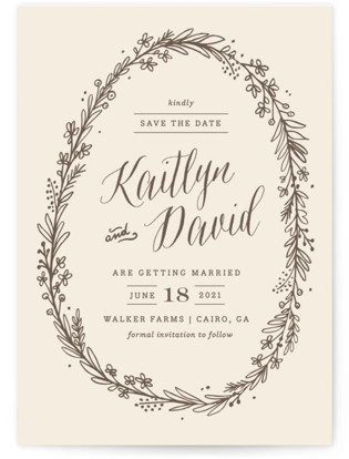 Wildflower Frame Save the Date Cards