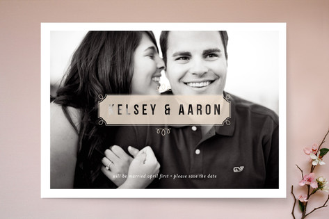 Vintage Street Sign Save The Date Cards
