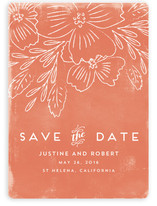 Floral Love In The Air Save The Date Cards