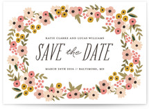 Big Wreath Save The Date Cards