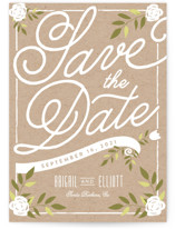 Blushing Save the Date Cards
