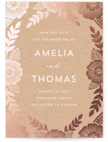 Bold Floral Save The Date Cards