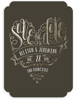Handlettered Heart Save The Date Cards