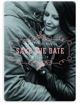 Parisian Café Save the Date Cards