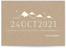 Retro Plates Save The Date Cards