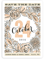 Rose Garden Save The Date Cards