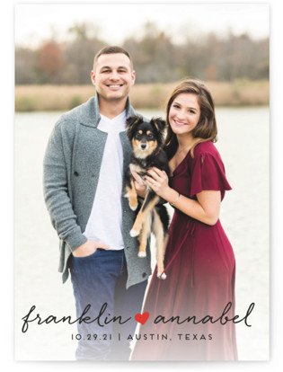 Sidewalk Love Save the Date Cards