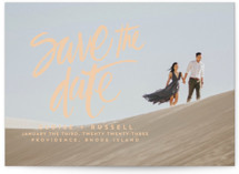 Lovely Brush Save The Date Cards