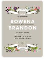 Banner and Branches Save the Date Cards