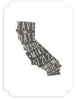 State Stamp - California Save The Date Cards
