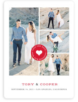 Stamped Heart Save The Date Cards
