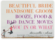 You In or What? Save the Date Cards