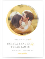 Heart Cutout Save The Date Cards