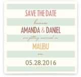 Malibu Stripes Save The Date Cards