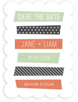 Stacked Washi Save the Date Cards