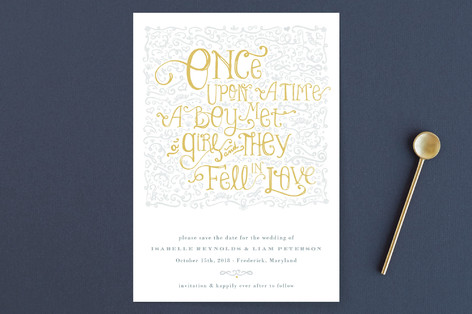 Once Upon Save The Date Cards